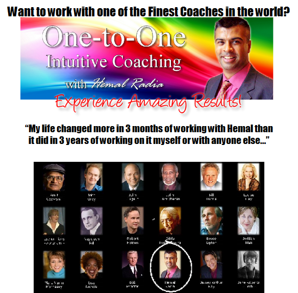 Intuitive Coaching - Work One-to-One with Hemal